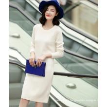 Women's pure cashmere latest dress design diamond knitting casual dress