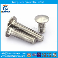 DIN603 in stock A2-70 stainless steel carriage bolt,ANSI B18.6.3