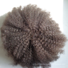 6 Inch Custom Virgin Remy Human Afro Curl Human Hair Toupee For Men And Women
