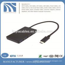 USB 3.1 Tipo-C USB-C 4 puertos Hub adaptador para PC portátil Tablet Apple nuevo Macbook