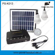 4W Solar-Panel Kits mit drei Lampen mit Handy-Ladegerät