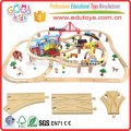 Ensemble de train pour enfants Hotton de 2015, Ensemble de train en bois de vente directe en usine, Ensemble de train à chemin de fer neuf