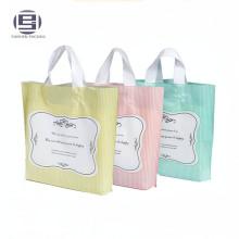 Красивый обычай печать складная продуктовых магазинов сумки с пластиковой жесткой ручкой петли
