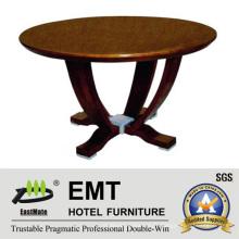 Table à café ronde en bois à design très cher (EMT-CT05)