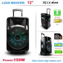 Orador sem fio profissional do Portable do orador do trole do orador de Bluetooth