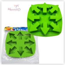 Moule à glace adapté aux besoins du client, plateau de cube de glace de silicone