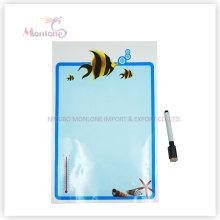 Cadeau promotionnel 33 * 48cm Wall / Icebox Memo Pad autocollant avec marqueur