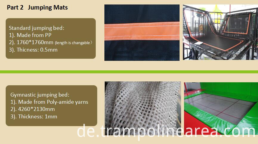 Jumping mats of trampoline park equipment for sale
