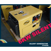 Générateur diesel insonorisé triphasé de 7,5 kVA avec CE ISO BV SGS