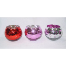 Color Glass Candle Holder (DRL06158) for Valentine′s Day