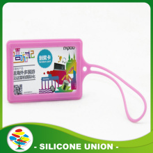 Colorful custom silicone luggage tag