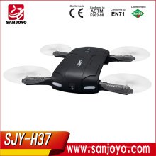 Pocket Selfie Drone Quadcopter, JJRC H37 Elfie Pocket Drone plegable Wifi FPV con cámara 0.3MP RC Drone SJY-JJRC H37