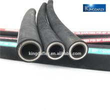 Resistente a la abrasión EN 4SH 4SP Cuatro cables de acero espiral Manguera hidráulica de goma para excavadora