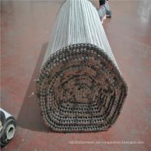 Malla de malla de alambre de acero inoxidable balanceada correa transportadora de malla
