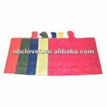emergency disposable poncho / poncho raincoat / mexican poncho