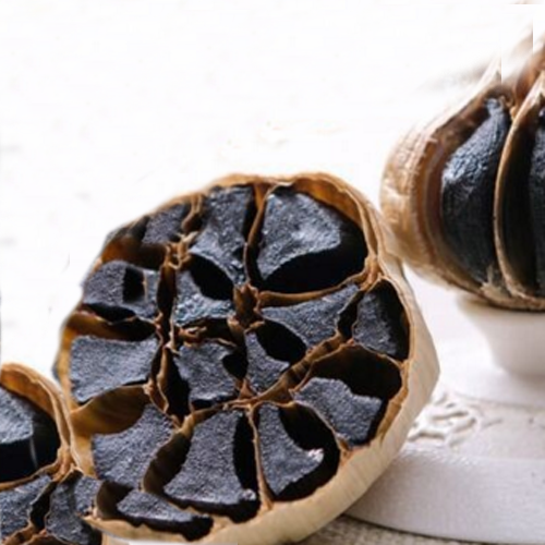 whole black garlic