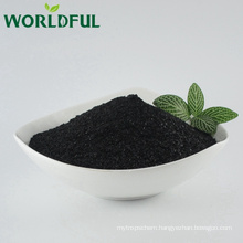 Made in China high grade leonardite extract humic acid min 70%, organic potassium humate shiny flake plant fertilizer