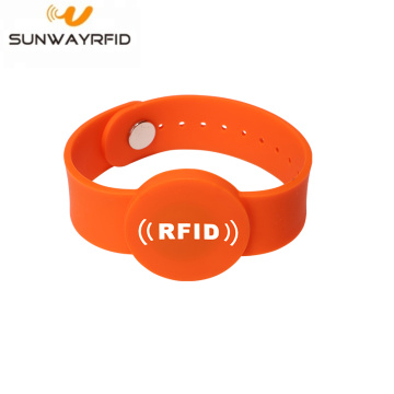 Bracelet anti-effraction RFID en silicone NFC