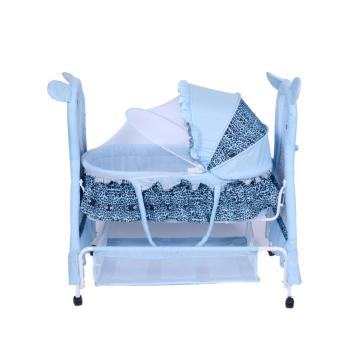 Adorable Bear Pattern Baby Cot and Cradle
