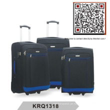 Poliéster 2wheels Soft Inside Trolley Luggage (KRQ1318)