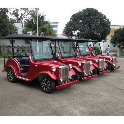 carrello di golf vintage con 2 posti auto a gas