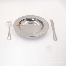 Cheap Kitchenware Stainless Steel Metal Serving Tray Food /18cm-30cm All Size Plate Dinner Set
