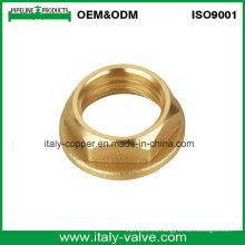 Tuerca hexagonal de cobre amarillo de la calidad modificada para requisitos particulares certificada ISO9001 (AV-BF-7042)