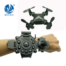 2.4GHz 6 Axis Mini Doblable y Wrist Wearable reloj Drone con WIFI FPV