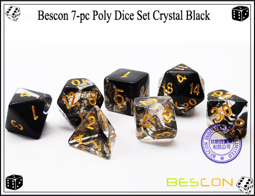 Crystal Black Dice Set-2