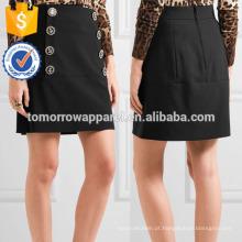Nova Moda Embelezada Lã-mistura Mini Lápis Saia DEM / DOM Fabricação Atacado Moda Feminina Vestuário (TA5130S)