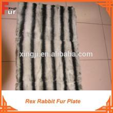 Plaque en fourrure de lapin Chinchilla Design Rex