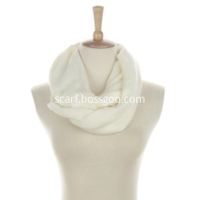 Ladies Classic Acrylic Soft Infinite Scarf with Solid Colour