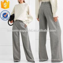 Houndstooth Hose aus Wollgemisch mit weitem Bein? Herstellung Großhandel Mode Frauen Bekleidung (TA3041P)