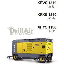 1140cfm 35bar Портативный винтовой компрессор Atlas Copco для горнодобывающей промышленности