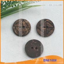 Botones naturales de coco para la prenda BN8100