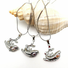 Natural Freshwater Pearl Shark Cage Pendant Necklace