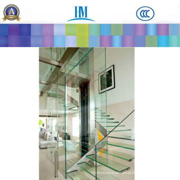 Painéis de vidro laminado, construção de vitral para prateleiras