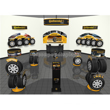 Professional Metal Tyre Retail Shop Interior Design Automotive Products Car Wheel Tire Display Stand