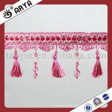Perlas de precio razonable y franja de borla para cortina