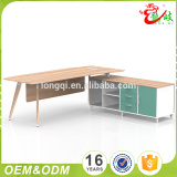 China supplier factory price custom european style melamine L shape long executive office desk