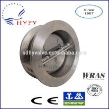 Dual plate check valve ductile iron body high quality