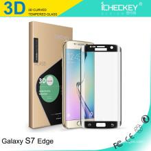 Approvisionnement d'usine !!! 9H 0.2mm ultra mince protecteur d'écran en verre trempé anti lumière bleue 3D pour Samsung S6galaxy s7 protecteur de bord