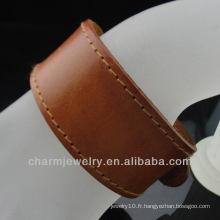 Bracelet en cuir manchette personnalisé à la mode de 2014 BGL-022