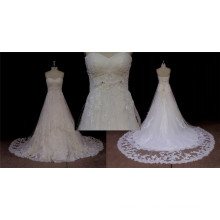 Longue robe de mariée en ligne A-Line