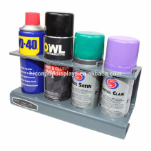 Productos para el automóvil Tienda de venta al por menor Oficina Unidad de almacenamiento comercial 4 agujeros Pintura de aerosol de metal Puede Display Rack
