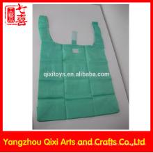 Promocional barato dobrável sacola de compras supermercado mais barato nylon sacola de compras dobrável