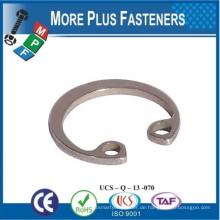 Made in Taiwan Interne Sicherungsringe Bohrung Größe Messing internen Sicherungsring Edelstahl internen Sicherungsring