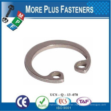 Made in Taiwan Brass Bore Size Stainless Steel Retainer Internal Circlips