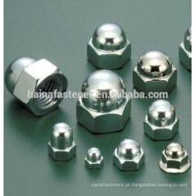 Porca de tampa hexagonal de aço inoxidável (M4-M20)