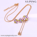 61996- Perfect Design Imitation Xuping Jewelry, Crystal Jewelry Set